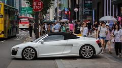 (seua_yai) Tags: automobile car asia southkorea candid people wheels street koreaseoul2018 audi r8