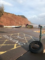 Sidmouth after the storm (philipdavis6) Tags: humour lostcar tyre noparking slipway sidmouth