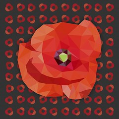 Poppy Poly Art (VeRoNiK@ GR) Tags: remembranceday graphicdesign poppies artwork lestweforget design london illustration illustrator graphicdesigner adobeillustrator adobephotoshop abstracts soldiers 100 years