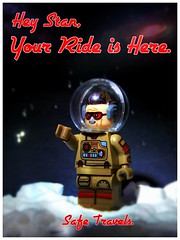 Stan, Your Ride is Here (LegoKlyph) Tags: lego brick block build mini figure stan lee space obituary movie comic marvel artist writer actor director nerd