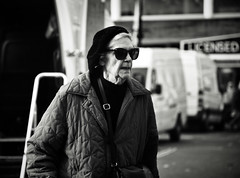 Licensed to Kill (Bury Gardener) Tags: monochrome mono burystedmunds bw blackandwhite britain 2018 nikond7200 nikon england eastanglia uk people peoplewatching folks suffolk streetphotography street streetcandids snaps strangers candid candids cornhill