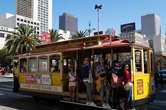 Hang on there (Dominic Sagar) Tags: amy arlen felsen friends sanfrancisco train tram trolley unionsquare california unitedstates us