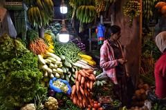 Open All Hours #2 (Mr_Pudd) Tags: women woman chilli chili cauliflower potato banana lettuce courgette carrots ledlamp ledlightbulb ledlight ledbulb lightbuld srilanka nuwaraeliya nikond750 nikon nightscene market vegetables
