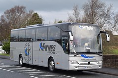 T80GSM  Maynes, Buckie (highlandreiver) Tags: t80gsm t80 gsm maynes coaches buckie mercedes benz tourismo bus coach gretna
