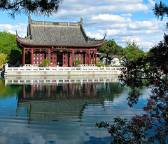 Chinese Garden Pagoda (Colorado Sands) Tags: pagoda montreal canada quebec sandraleidholdt canadian botanicgarden asian architecture montrealbotanicgarden chinesegarden gardens
