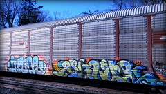 (timetomakethepasta) Tags: avol value pigs h2 freight train graffiti art conrail autorack