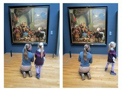 Problems in Art Education (YIP2) Tags: ferdinandbol artist art museum rijks rijksmuseum amsterdam painting diptych watching education people