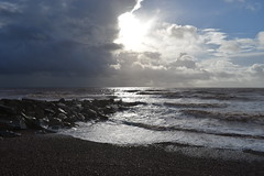 Let there be light (davidvines1) Tags: sun sea sky cloud storm beach rocks