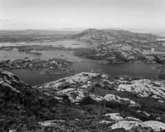 Land of Water (Ed Fulton) Tags: 100sw 6mf 6x6 analogue eabhal eaval ektachrome film mamiya mediumformat mittelformat northuist scotland uk uibhistatuath monochrome bw locheport unitedkingdom gb