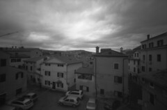 Koper window view (lumpy79) Tags: ondu 6x9 pinhole ilford delta 400 koper window view cameraobscura lyukkamera blackandwhite bw