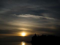 _1190441 (Zaida_cv) Tags: sunset light sitges sea catalonia night sun reflections silhouette orange