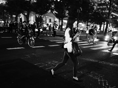 Night snap! (takana1964) Tags: streetphotography snap streetsnap street snapshot streetshot citysnap citystreet city cityphotography blackandwhite bw bnw monochrome osakacity japan