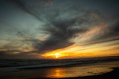 Winter Sunrise (PeskyMesky) Tags: aberdeen aberdeenbeach sunrise sunset water scotland sea sky sand cloud red canon canon5d eos