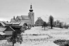 KIRCHWEILER (B/W) (LitterART) Tags: kirchweiler steiermark styria austria österreich dorf ort winter fujifilm stpankrazen kirche eglise church