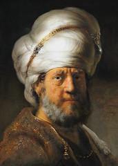 Rembrandt van Rijn. Man in Oriental Dress. 1635. detail (arthistory390) Tags: rijksmuseum