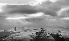 Peaks in January (MikeONeil) Tags: blackwhite landscape monochrome peakdistrict cloud mamtor sky losehill blackandwhite hill rx100 mountain