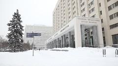 Библиотека зимой (РГДБ / RGDB) Tags: library rgdb russia winter moscow architecture snow библиотека ргдб россия здание зима архитектура