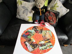 Dressin' up time! (pefkosmad) Tags: jigsaw puzzle hobby leisure pastime 500pieces waddingtons round circular costumes missingpieces vintage castlehoward tedricstudmuffin teddy ted bear animal toy cute cuddly fluffy plush soft stuffed photo photograph qualitex