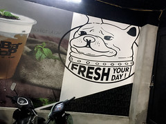 Fresh Your Day (cowyeow) Tags: hanoi vietnam dog sign fresh poster urban asia asian funny street city funnysign