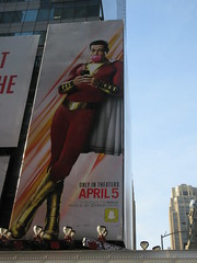 Shazam The Big Red Cheese Billboard 42nd St NYC 3813 (Brechtbug) Tags: shazam billboard 42nd street new captain marvel the big red cheese poster ad nyc 2019 times square movie billboards york city work working worker paint painting advertisement dc comic comics hero superhero alien dark knight bat adventure national periodicals publication book character near broadway shield s insignia blue forty second st fortysecond 03142019 lightning flight flying march