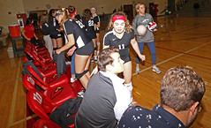 IMG_3182 (SJH Foto) Tags: girls high school volleyball bishop shanahan hempfield state pool play championships pregame huddle cheer candid canon 1018 f4556 stm superwide lens