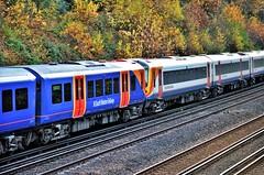 Blue & White...... (stavioni) Tags: 444027 450565 class444 class450 siemens desiro emu electric multiple unit rail train swr swt south western railway west trains