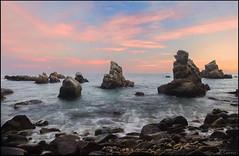 Atardecer (antoniocamero21) Tags: color foto sony paisaje marina cielo atardecer mar agua rocas frare cala playa lloret brava costa catalunya