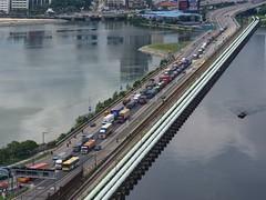 Sans titre 35 (Claude  BARUTEL) Tags: border causeway customs harbor harbour jam johorbaru malaysia port singapore trafficjam transport truck trucking