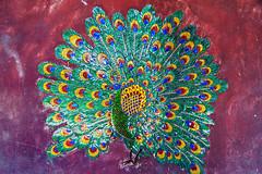 (SLpixeLS) Tags: thailand dara devi hotel trees peacock mosaic chiangmai