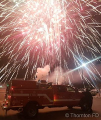 December 8, 2018 - Fireworks at WinterFest. (ThorntonFD)