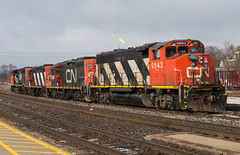It was 1980...something...er 2018 (Joseph Bishop) Tags: cn 9543 emd gp402w brantford cndundassubdivision trains train track tracks railfan railroad railway rail rails zebra