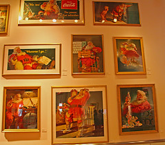 Coca Cola Photographs, World of Coca Cola Museum, Atlanta, Georgia (2 of 2) (gg1electrice60) Tags: cocacola johnspemberton inventedcocacolain1886 cocacolamuseum worldofcocacola 121bakerstreetnw atlanta georgia ga fultoncounty unitedstates usa us america nearcentennialolympicpark centennialolympicpark nearhiltongardeninnhotel smallpark pharmacistjohnstithpemberton cocacolabottlingcompany atlantametropolitanarea cityofatlanta downtown downtownatlanta cocacolasigns variouscocacolapictures cocacolaphotographs mattedphotos mattedcolorphotos santaclausdrinkingacoke frames pictureframe santaclaus santa whereverigo thepausethatrefreshes holidays forsparklingholidays e reflections distortions