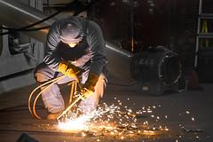 Hot Spot (Coquine!) Tags: christianleyk germany bremerhaven yard werft welding schweissen schweisser welder funken sparks shipbuilding