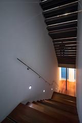 Guerrero (Antonio_Luis) Tags: museo jose guerrero arquitecto antoniojimeneztorrecillas escaleras silueta persona sombra luz interior arquitectura granada andalucia cultura
