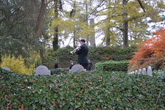 Practising the last post. St Symphorien Military Cemetery, Near Mons. (greentool2002) Tags: st symphorien military cemetery mons practising last post prior ceremony remembrance 1100 am 10th november 2018