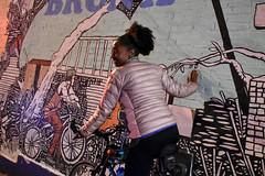 Bronx, New York (Quench Your Eyes) Tags: bronxmuseum letsglownbx letsglownyc ny artworks bicycle bikelights bronx fallride fordhamplaza glowatnight graffiti lumoshelmet newyork newyorkcity newyorkstate nightride nyc nycdot reflective streetart thebronx urbanart visibility wallart ubbicycleadv