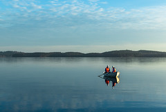 on the boat in November (VisitLakeland) Tags: finland kallavesi kuopio lakeland autumn boat järvi lake luonto maisema nature outdoor rowing scenery soutaa syksy vene water