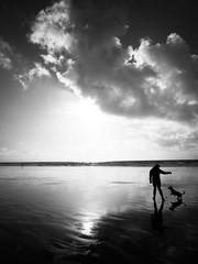 Porthcawl (robkhoo) Tags: wales southwales beach beaches porthcawl restbay landscape landscapes sky clouds blackandwhite bandw monochrome monochromatic