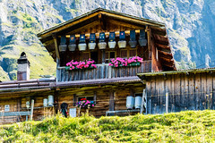 Bauernhaus (olle.graf) Tags: 2018 olle berneroberland d3300 nikon schweiz september wengen switzerland bauernhaus farmerhouse lauterbrunnen bern