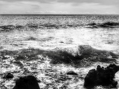 Waves in BW (Robert Cowlishaw (Mertonian)) Tags: mertonian bw blackandwhite robertcowlishaw deeply black white ocean maui2018 hawaii beach deeplyiseeyou parasophia ineffable awe wonder beauty beautifuldarkness beautifuluncertainty edge