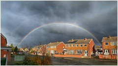 incoming (Andy Stones) Tags: rainbow double rain shower weather weatherwatch clouds cloud cloudscape street view houses nature naturephotography outdoors outside sky skywatching scunthorpe lincolnshire northlincs northlincolnshire nlincs daylight image imageof imagecapture photoof photography photo