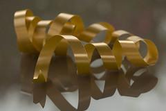 Golden ribbon (Explored 2018-12-08) (Gisou68Fr) Tags: spiral spirale ruban ribbon golden gold reflet reflection smileonsaturday