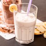 Milk shake with banana and ice cream thumbnail