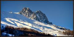 Ski slope in Ecrins (watbled05) Tags: ciel extérieur glacier hautesalpes ski massifdesecrins montagne neige paysage rochers vallouise mélèzes lepelvoux