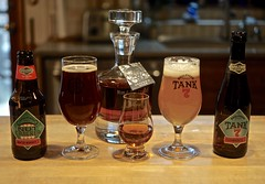 Cheers to 2019 (ricko) Tags: beer whiskey glasses tank7 nutcracker boulevardbrewingco newyearsday decanter heavensdoor bobdylanwhiskey bottles 01365 2019