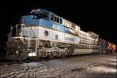 UP 4141 (Justin Hardecopf) Tags: up unionpacific 4141 emd sd70ace president george hw bush presidential library museum home plate display night omaha nebraska railroad train