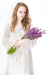 Portrait 168 (Michele & Miriam Photography) Tags: fantasy lavanda fiori whitedress blonde