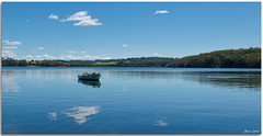 Timber Clinker Built Boat (Bear Dale) Tags: timber clinker built boat estuary ducks sky clouds reflection blue saltwater water lake ulladulla southcoast new south wales shoalhaven australia beardale lakeconjola fotoworx milton nsw nikond850 photography framed nature nikon d850 nikkor afs 1424mm f28g ed if