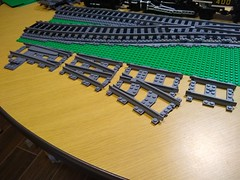 Trix Brix Switch Review - part 02 (SavaTheAggie) Tags: lego compatible large radius switch custom third party trix brix r104 review ballast train trains track switches turnout point