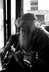 """Guitar Buck"" (Singing the Blues) (photo_secessionist) Tags: music guitar man singing bar portrait blackwhite pentax k3 pentaxdaf35561855mmallens digital bw bn fredsericksburg virginia explored"